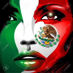 29415782-Mexico-Flag-Girl-Portrait-Stock-Vector